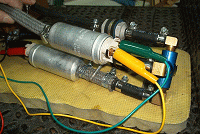 Pumps connected for test