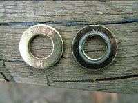 Two types of hardened washer